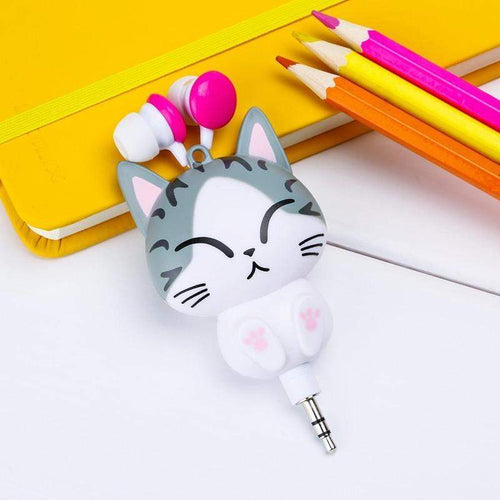 """Cat & Panda"" Earphones - Kawaii Nation"