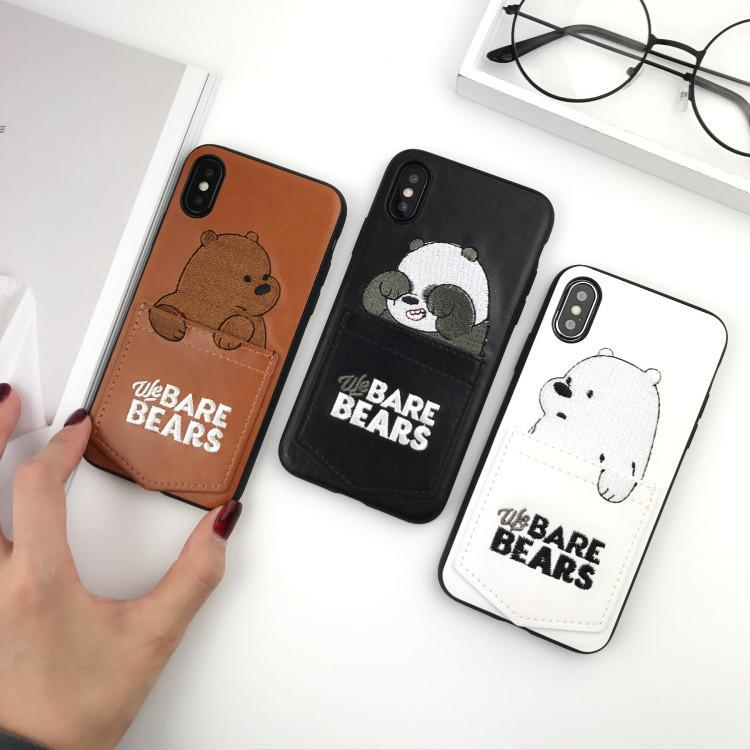 """We Bare Bear Pockets"" iPhone Case"