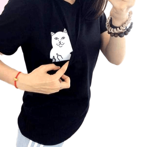 """Pocket Kitty"" T-Shirt"