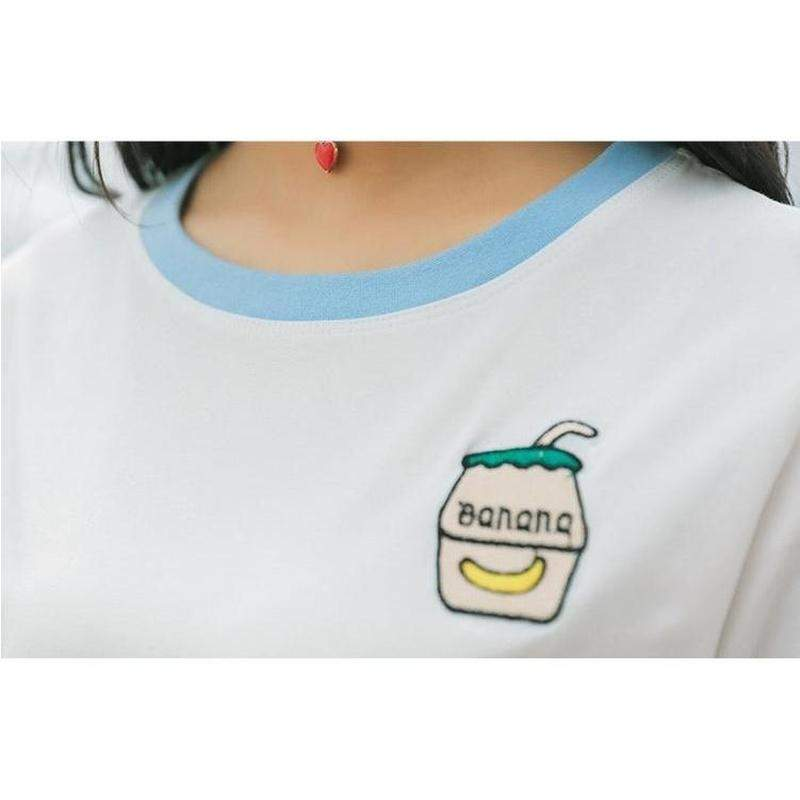 """Banana Milk"" T-Shirt - Kawaii Nation"