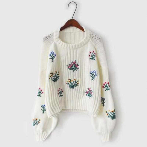 """Bouquet"" Knitted Sweater - Kawaii Nation"