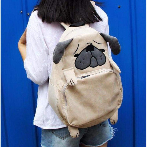 """Pugsly"" Soft Backpack - Kawaii Nation"
