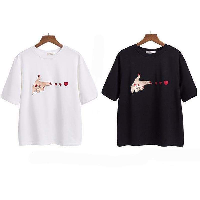 """Bang Bang Hearts"" T-Shirt - Kawaii Nation"