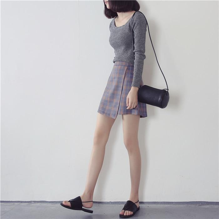 """Plaid Wrap"" Skirt"