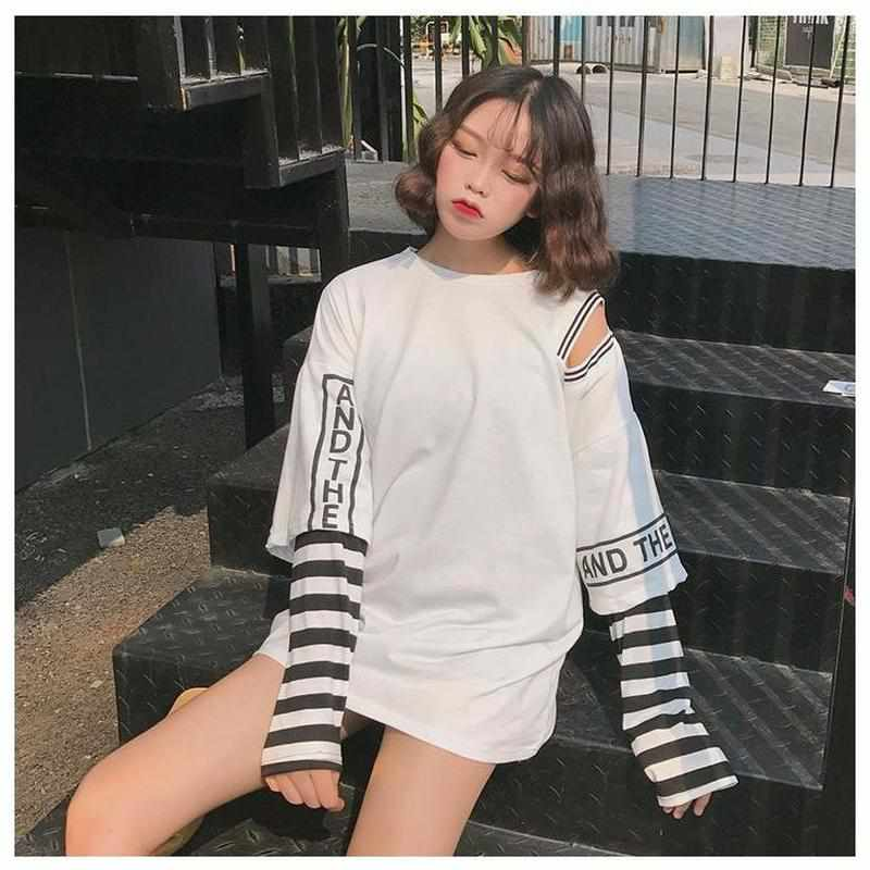 """Chip off the Shoulder"" Long Sleeve - Kawaii Nation"