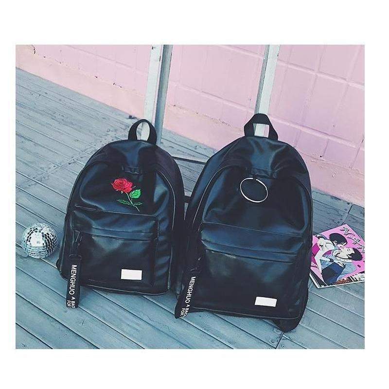 """Rose & Hoop"" Leather Backpack"
