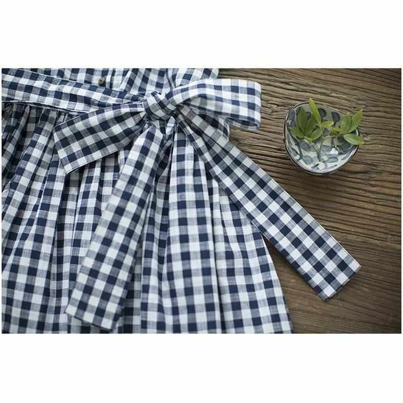 """Plaid Bow"" Dress"
