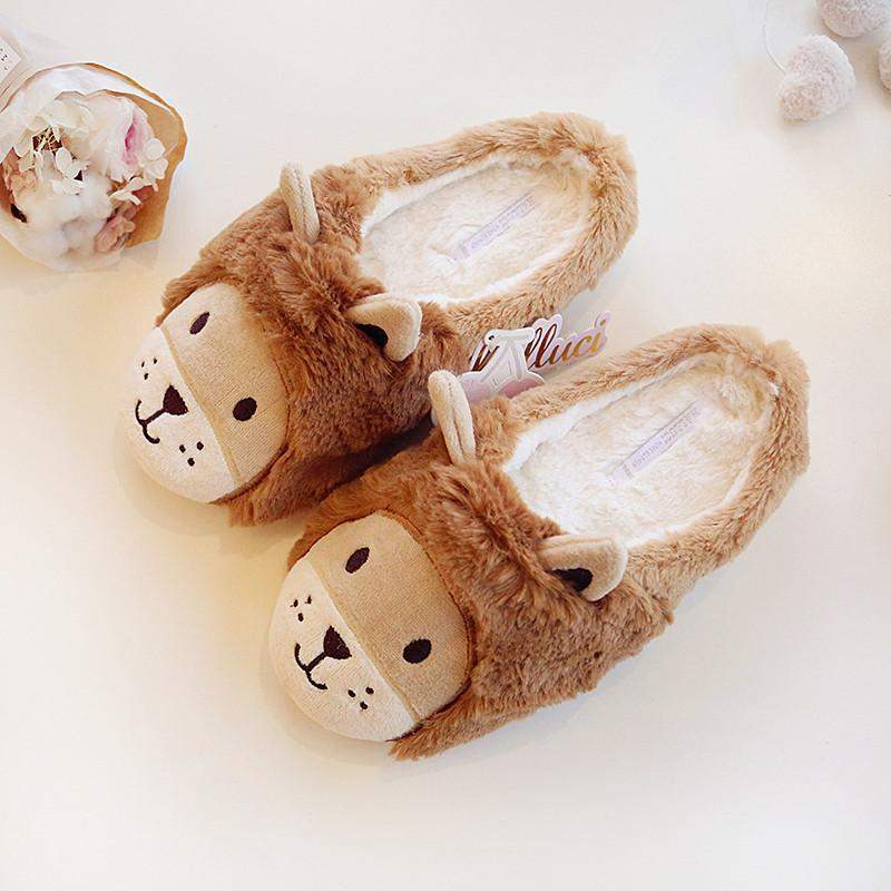 """Lion Kitty"" Slippers"