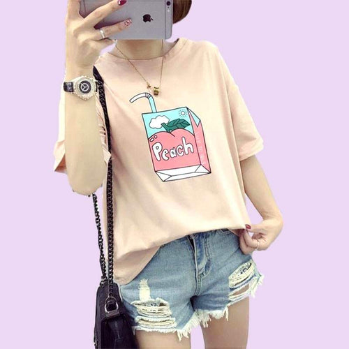 """Peach Drink"" T-Shirt - Kawaii Nation"