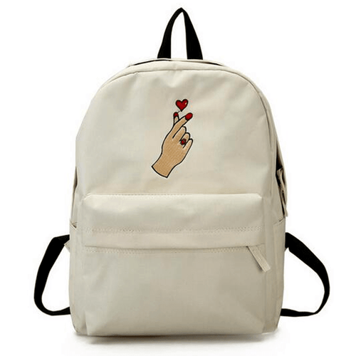"""Korean Heart"" Canvas Backpack"