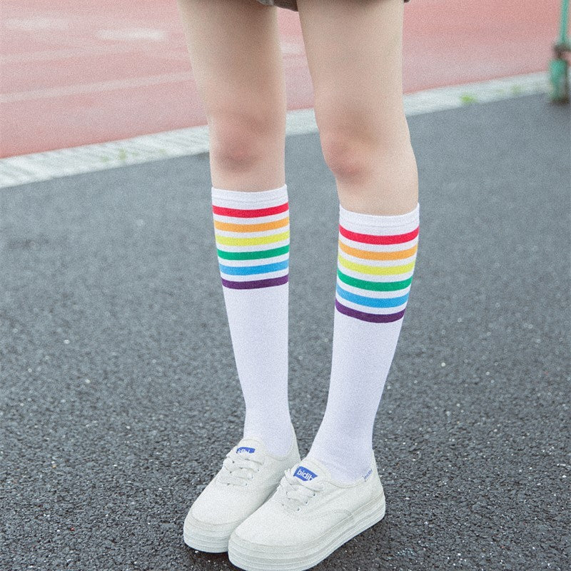 """Rainbow"" Long Socks"