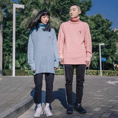 """Dolphin Embroidery"" Turtleneck - Kawaii Nation"