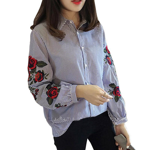 """Embroidered Rose"" Shirt"