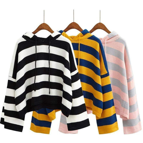 """Oversized Striped"" Sweater"