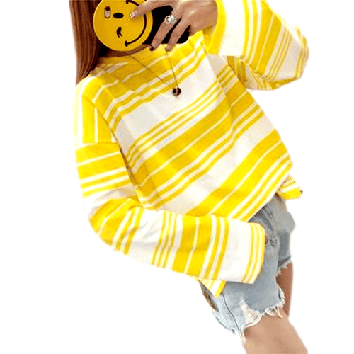 """Candy Striped"" Long Sleeved Shirt - Kawaii Nation"