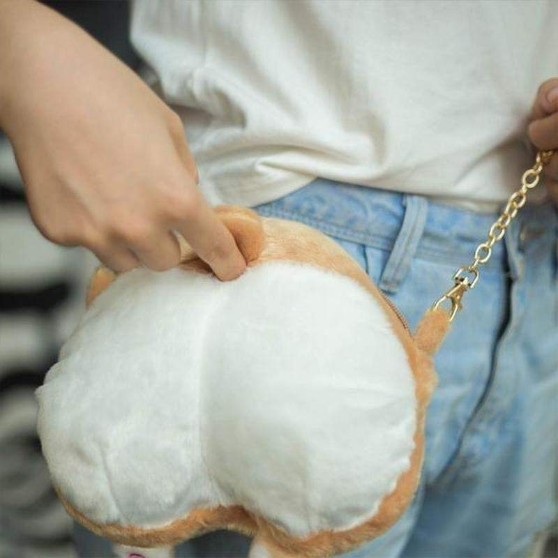 """Corgi Bum Bum"" Side Bag OR Wallet - Kawaii Nation"