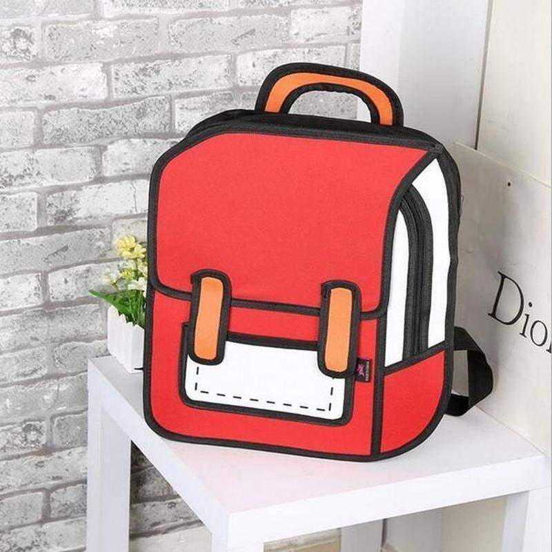 """2D Cartoon"" Canvas Backpack - Kawaii Nation"