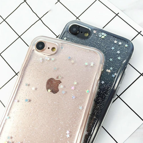 """TRANSPARENT SPARKLE"" CASES"