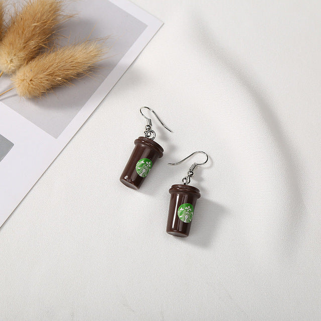 """Starbucks"" Earrings"