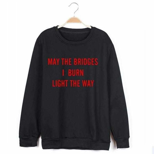 """Burning Bridges"" Sweater - Kawaii Nation"