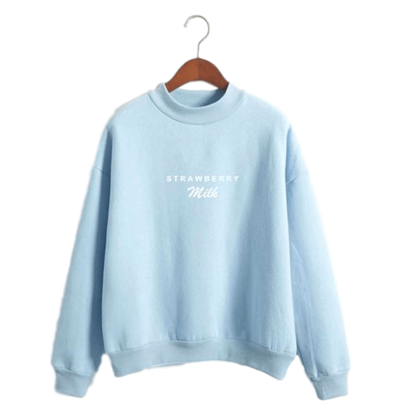 """Strawberry Milk"" Mockneck"