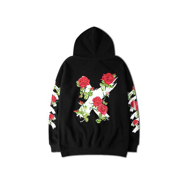 """Anti-War Rose"" Hoodie - Kawaii Nation"
