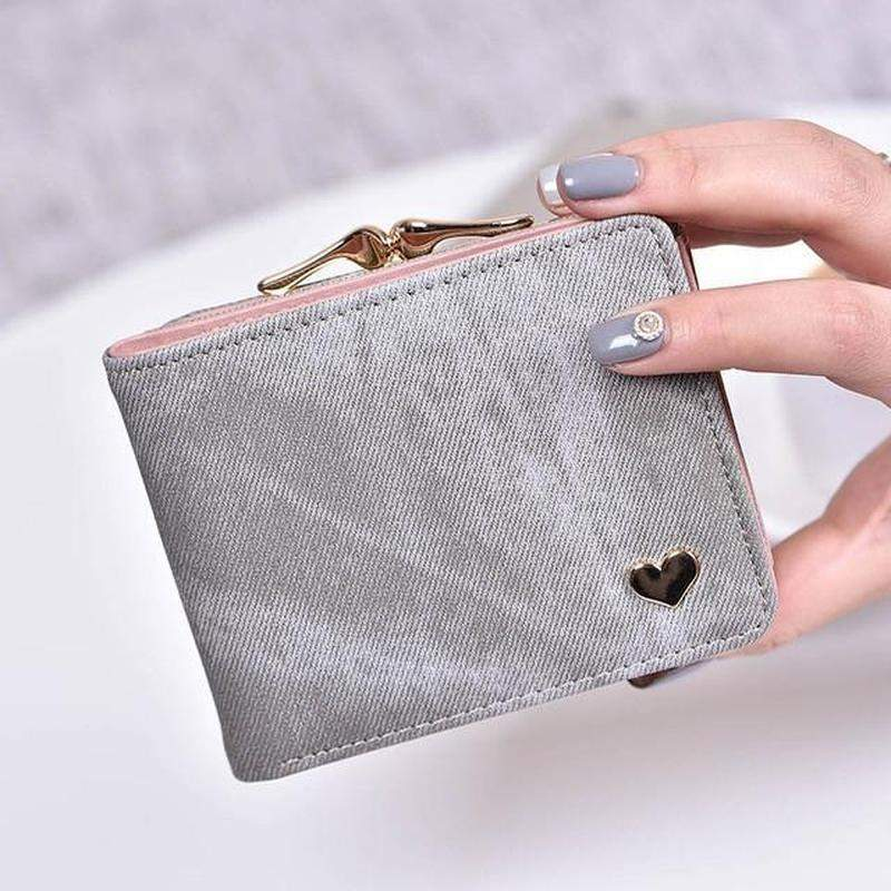 """Heart of Gold"" Compact Wallet"