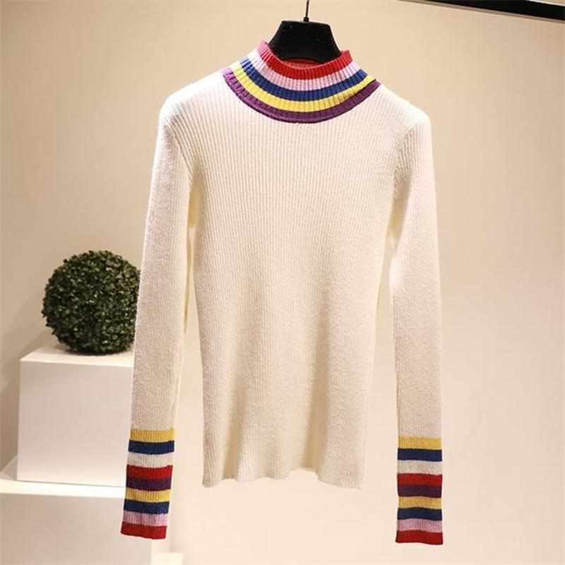 """Rainbow Collar"" Turtleneck"