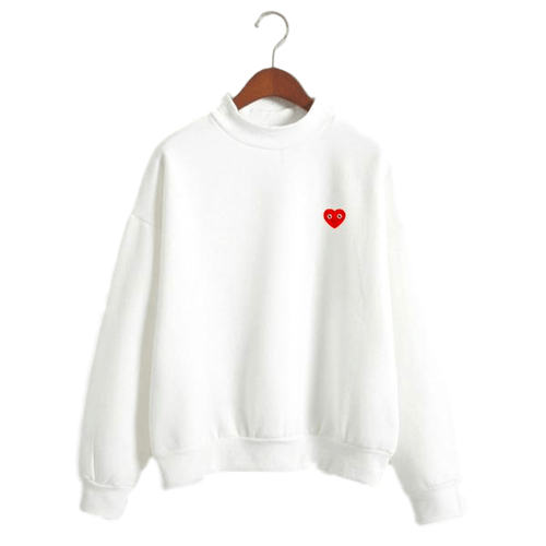 """Cheerful Heart"" Mockneck"