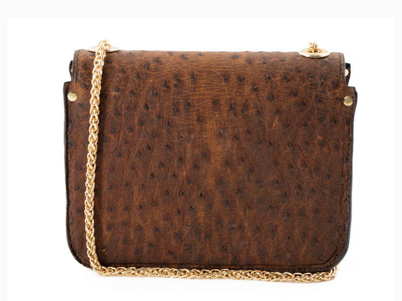 Genuine Ostrich Crossbody