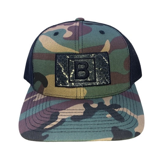 Camo B&B Rattlesnake Patch Hat