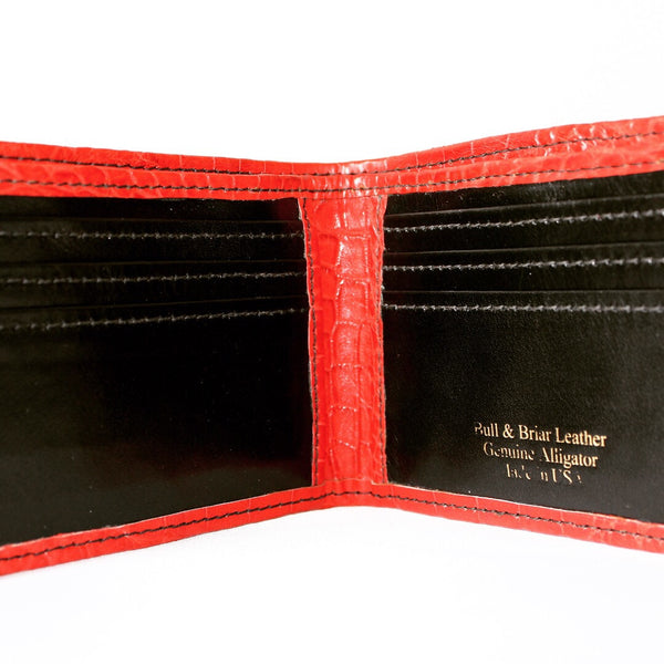 Alligator Bi-Fold Wallet-Men's Wallet-Bull and Briar Leather LLC