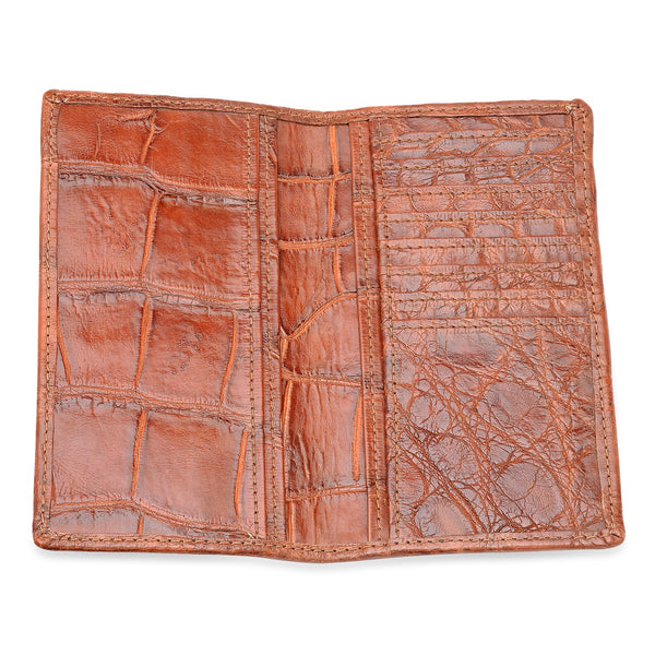 Cognac Brown Alligator Roper Wallets
