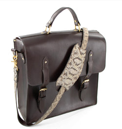 Rattlesnake Strap Lifetime Leather Messenger Bag