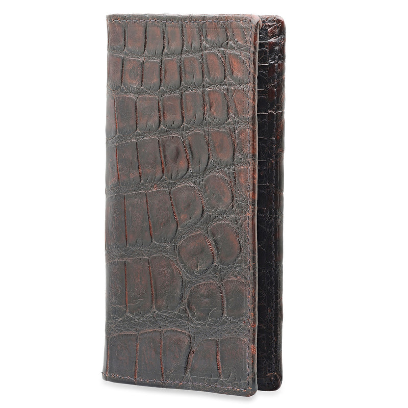 Dark Brown Alligator Roper Wallet