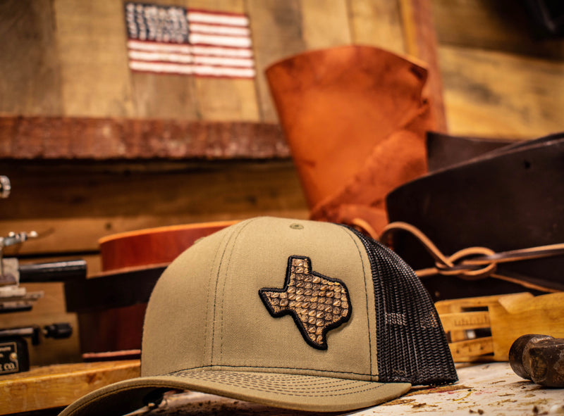 Texas Rattlesnake Patch Hat