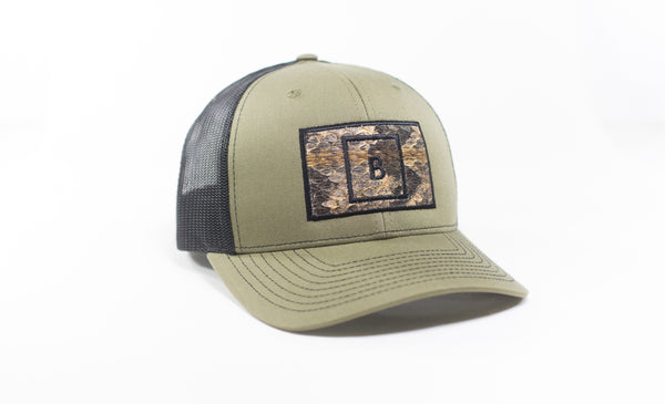 Olive Drab B&B Canebrake  Rattlesnake Patch Hat