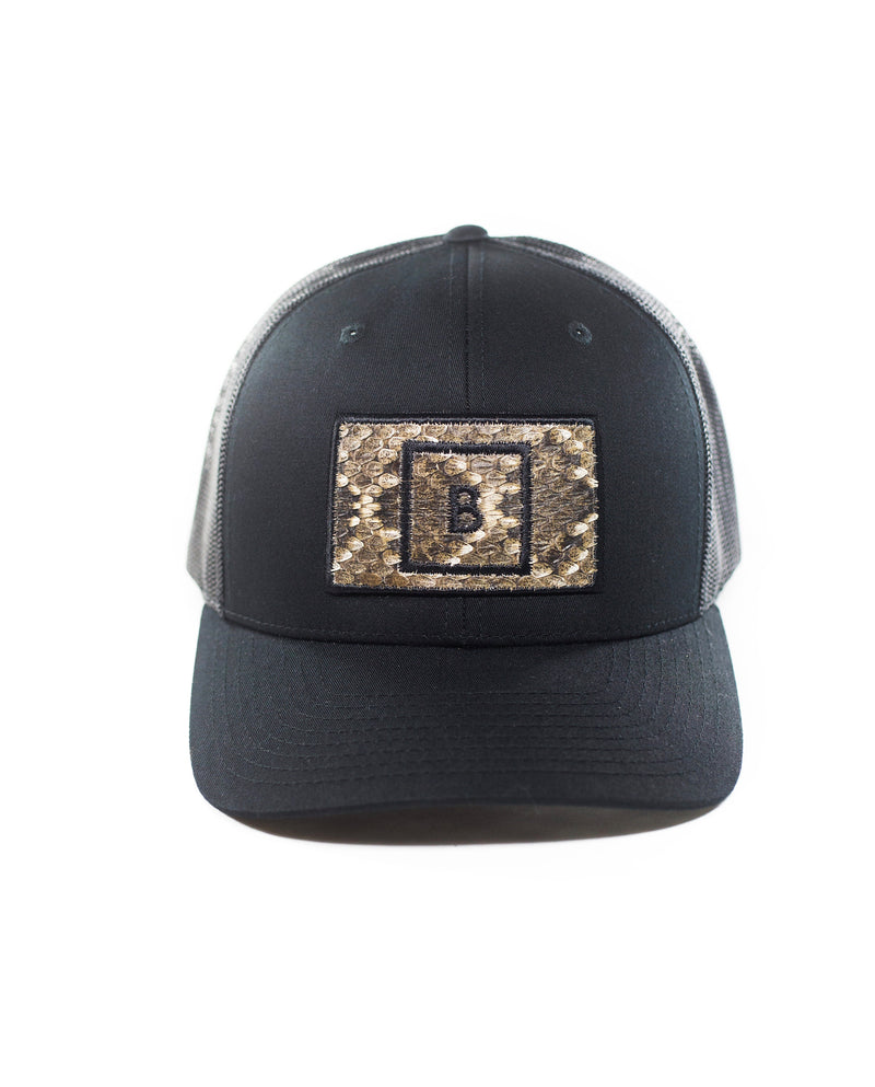 Black Diamondback Rattlesnake Patch Hat