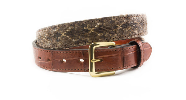 1 1/4 Alligator Diamondback Rattlesnake Belt