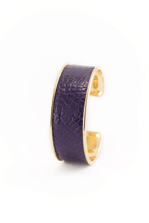 Purple Genuine Alligator Bracelet
