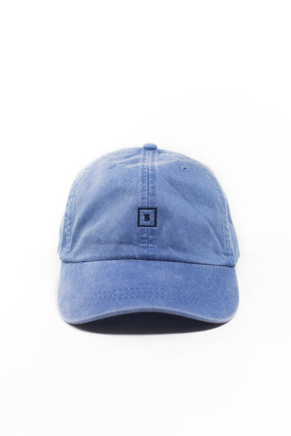 Blue B&B Leather Strap Back