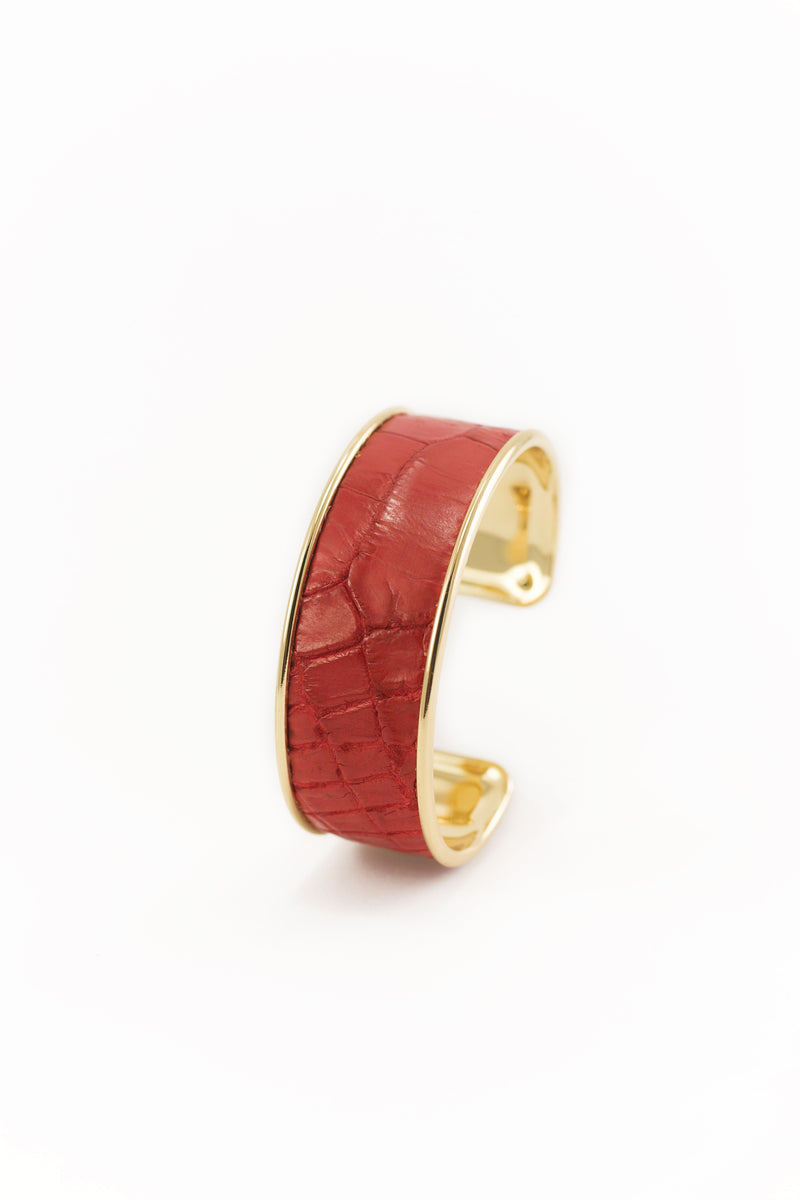 Royal Red Genuine Alligator Bracelet