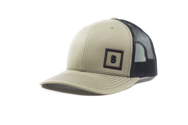 Beige B&B Leather Snap Back