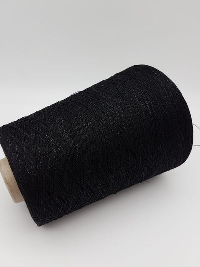 Viscose fancy yarn | Black with black shine  | Lace