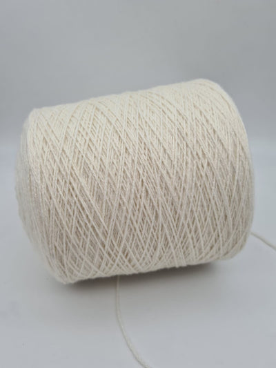 Mohair chain twisted yarn | White | DK