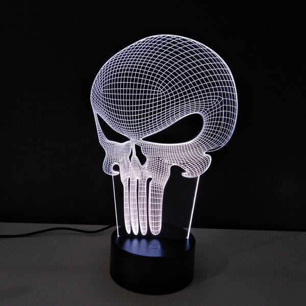 The Punisher Superhero Collection 3D Mega Lamp