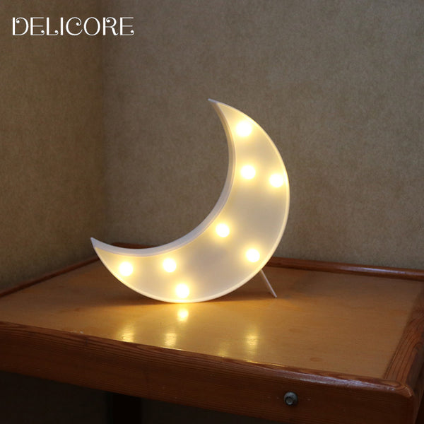 Crescent Moon Marquee Night Light