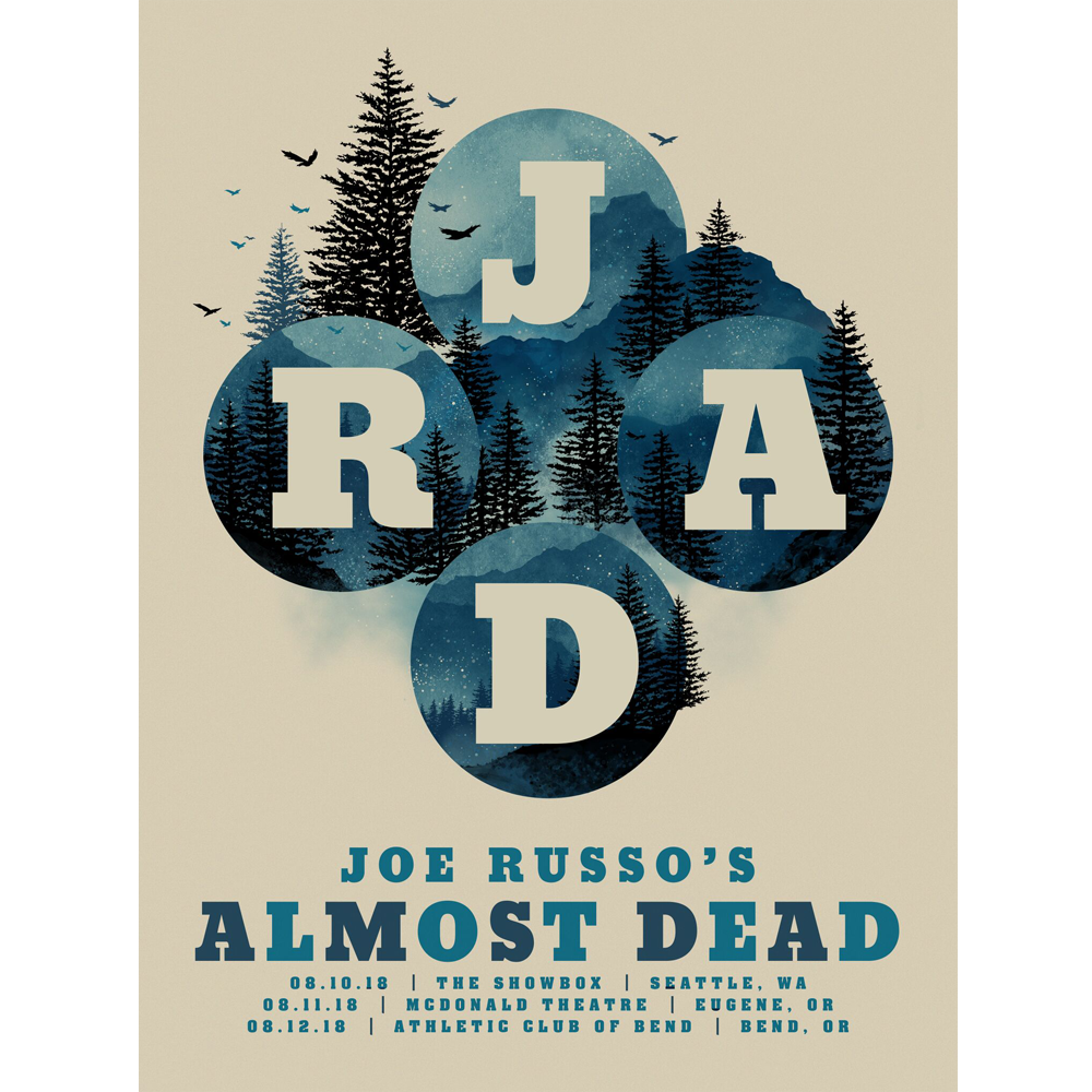 JRAD - 2018 Seattle / Eugene / Bend Poster