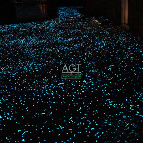 Glow in the Dark Concrete Patio & Walkway