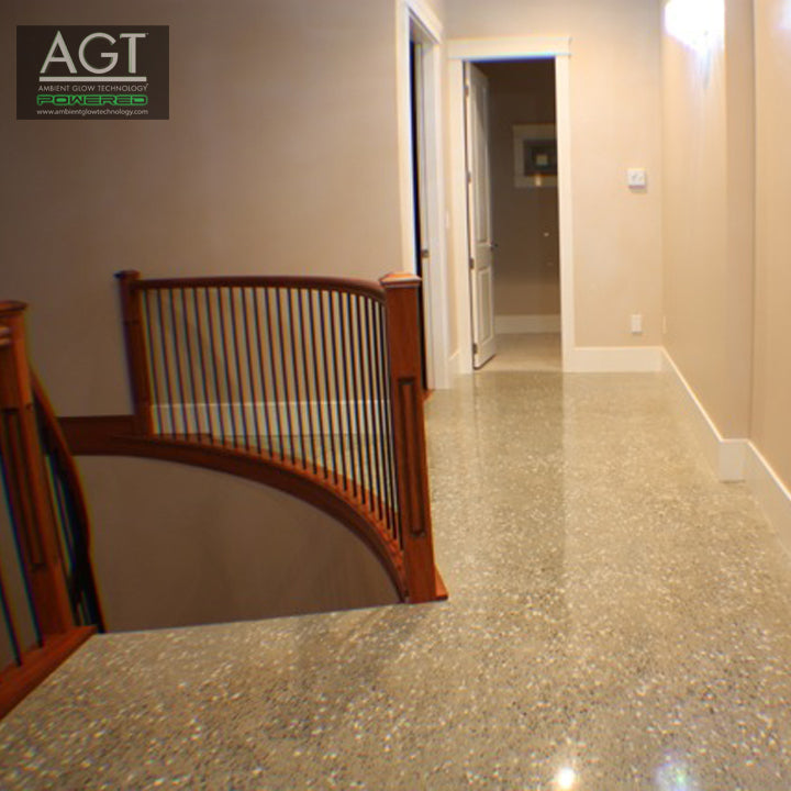 Glowing Concrete Polished Interior Floor